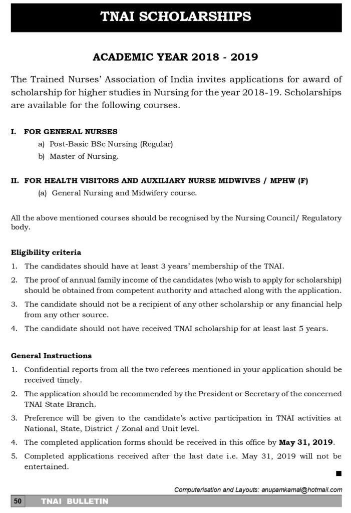 TNAI Bulletin – April 2019 – TNAI Publications